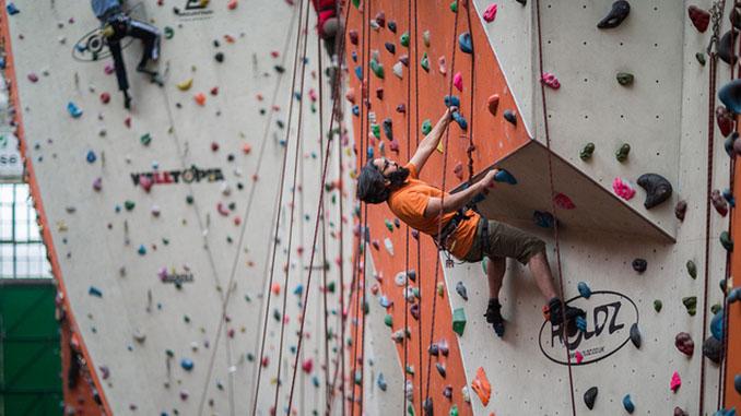 Rock climbing-.